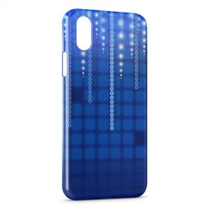 Coque iPhone X & XS Blue Pixel Style