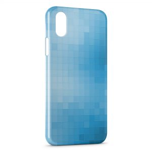 Coque iPhone X & XS Blue Pixels