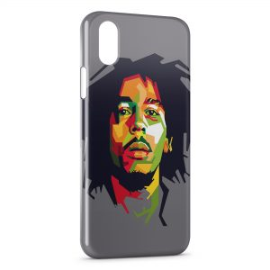 Coque iPhone X & XS Bob Marley Graphic Art 2