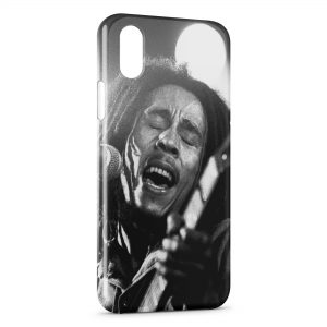 Coque iPhone X & XS Bob Marley Wintage Black & White