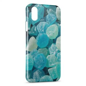 Coque iPhone X & XS Bonbons bleus