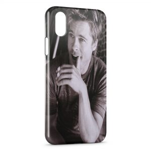 Coque iPhone X & XS Brad Pitt 2
