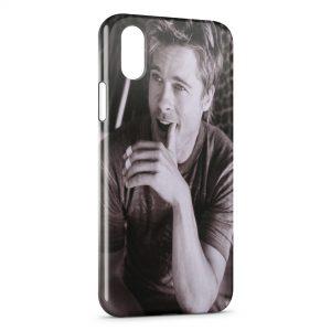 Coque iPhone X & XS Brad Pitt 2
