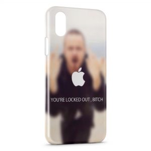 Coque iPhone X & XS Breaking Bad You are locked out bitch