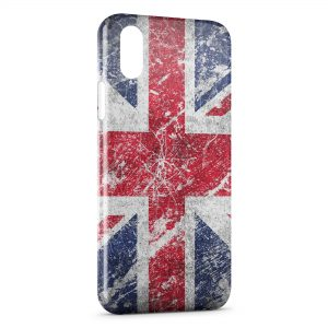 Coque iPhone X & XS British Drapeau Anglais