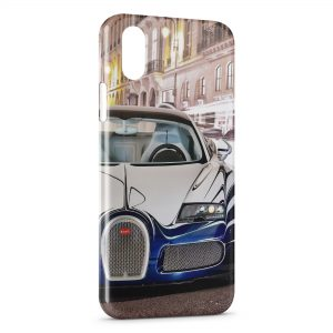 Coque iPhone X & XS Bugatti lock screen Voiture