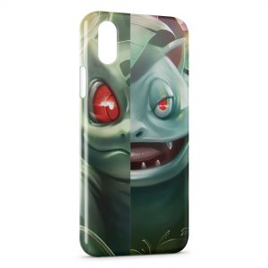 Coque iPhone X & XS Bulbizarre Florizarre Pokemon Art