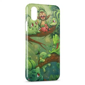 Coque iPhone X & XS Bulbizarre Germignon Pokemon Herbe