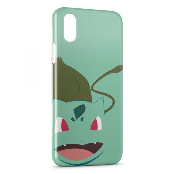 Coque iPhone X & XS Bulbizarre Pokemon Graphic Design Style