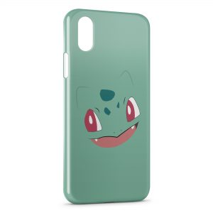 Coque iPhone X & XS Bulbizarre Simple Art Pokemon 2