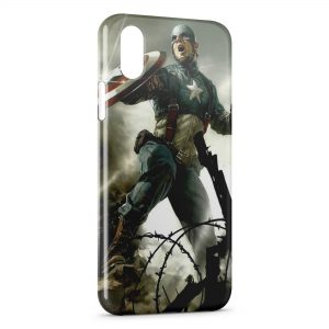 Coque iPhone X & XS Captain America 2