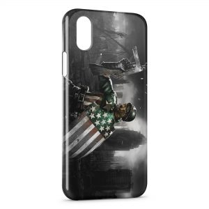 Coque iPhone X & XS Captain America 3