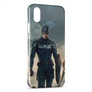 Coque iPhone X & XS Captain America 6