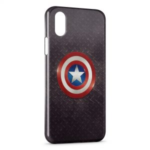 Coque iPhone X & XS Captain America Bouclier 2