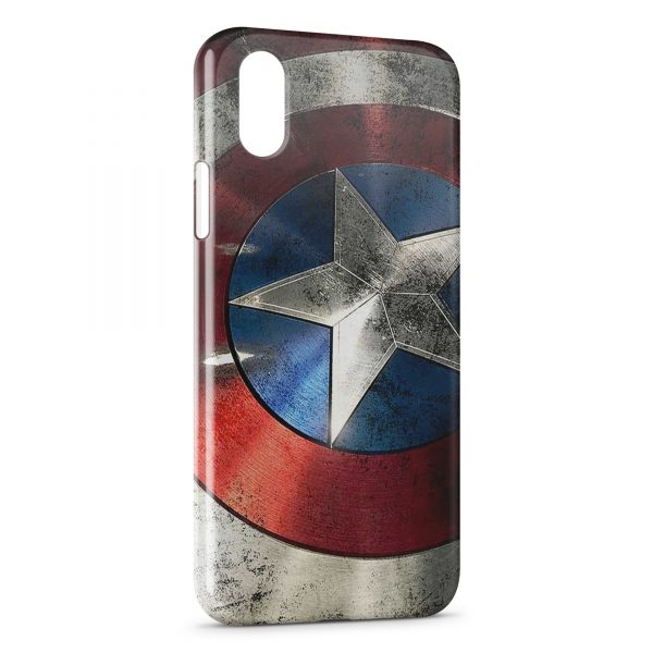 Coque iPhone X & XS Captain America Bouclier