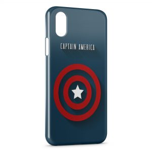 Coque iPhone X & XS Captain America Logo