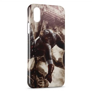 Coque iPhone X & XS Captain America Vintage