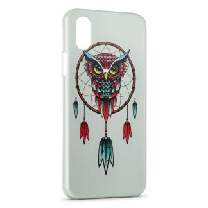 Coque iPhone X & XS Capteur de Reves Dream Catcher Hiboux