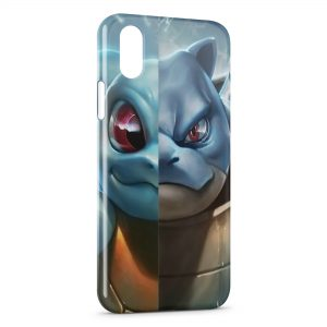 Coque iPhone X & XS Carapuce Tortank Pokemon Art