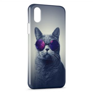 Coque iPhone X & XS Cat Sun Glasses