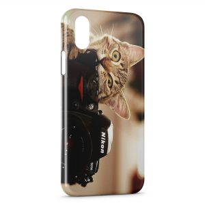 Coque iPhone X & XS Chat & Appareil Photo