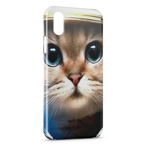 Coque iPhone X & XS Chat Astronaute