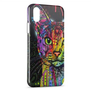 Coque iPhone X & XS Chat Colorize
