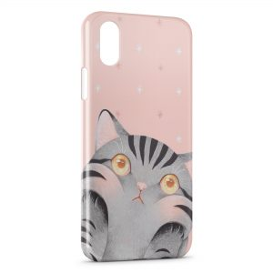 Coque iPhone X & XS Chat Mignon Cute