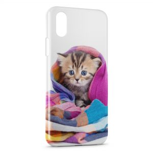 Coque iPhone X & XS Chat Mignon Serviette