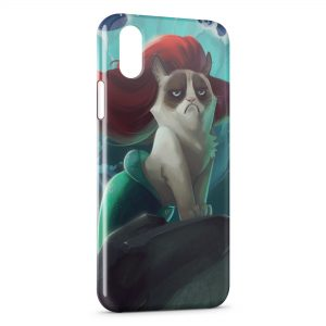 Coque iPhone X & XS Chat Sirène
