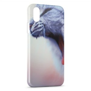 Coque iPhone X & XS Chat miaulant