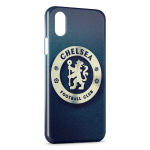 Coque iPhone X & XS Chelsea FC Football Blue