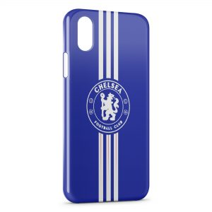 Coque iPhone X & XS Chelsea FC Football Blue Lines