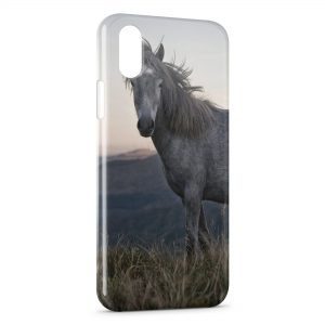 Coque iPhone X & XS Cheval 5 Herbe