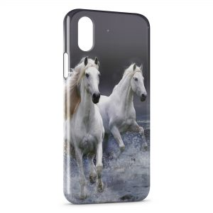 Coque iPhone X & XS Cheval Chevaux Water Sprint