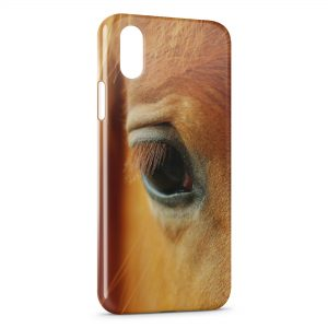 Coque iPhone X & XS Cheval Oeil Eye 3