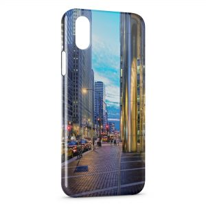 Coque iPhone X & XS City & Blue Sky