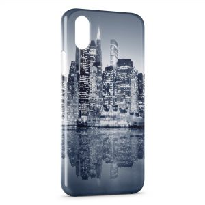 Coque iPhone X & XS City & Water
