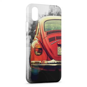 Coque iPhone X & XS Coccinelle Voiture Vintage