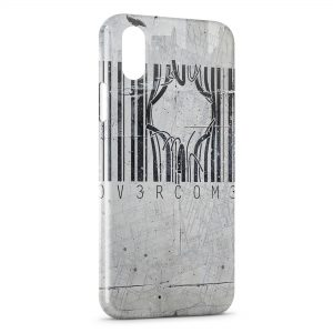 Coque iPhone X & XS Code Barre Street Art
