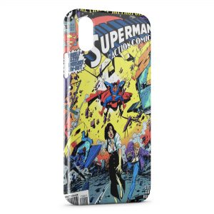 Coque iPhone X & XS Comics Superman 2