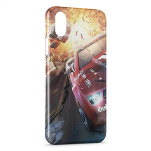 Coque iPhone X & XS Crash Voitures Cars Course