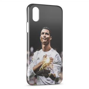 Coque iPhone X & XS Cristiano Ronaldo Football 21