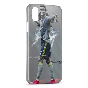 Coque iPhone X & XS Cristiano Ronaldo Football 25