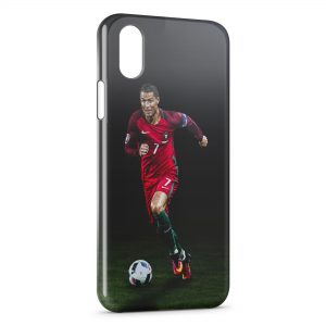 Coque iPhone X & XS Cristiano Ronaldo Football 26