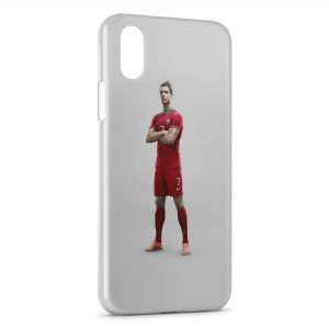 Coque iPhone X & XS Cristiano Ronaldo Football 48