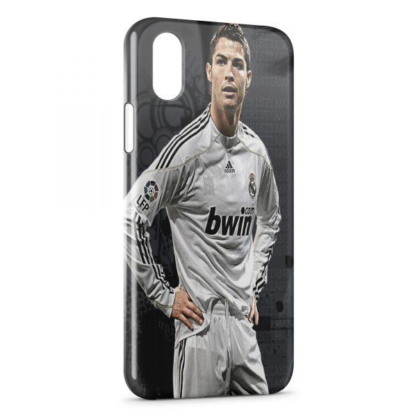 new style b044f 84672 Coque iPhone X & XS Cristiano Ronaldo Football 49