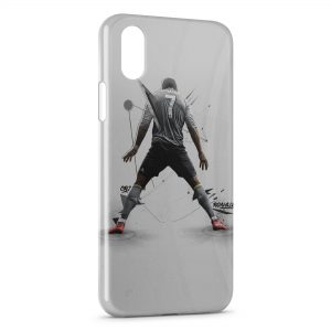 Coque iPhone X & XS Cristiano Ronaldo Football Art 2