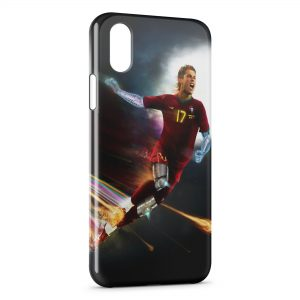 Coque iPhone X & XS Cristiano Ronaldo Football Bionic Art