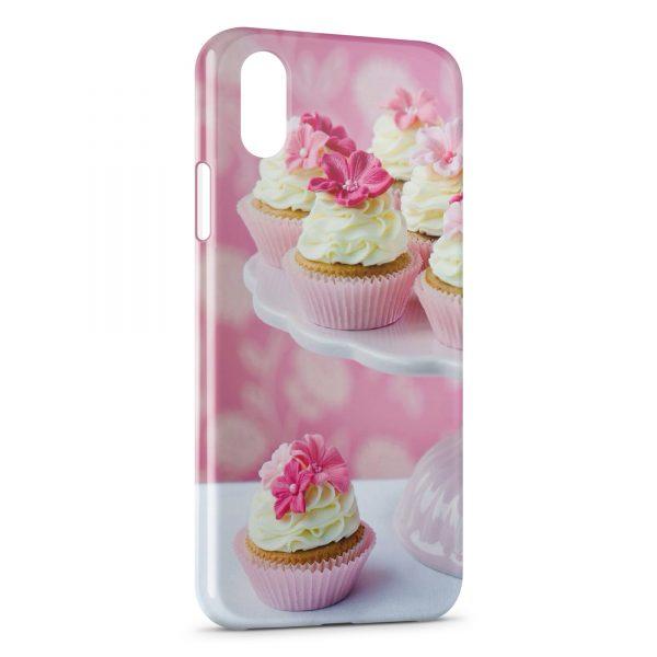 Coque iPhone X & XS CupCake Design Pink